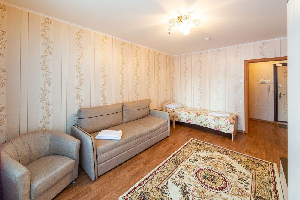 1-комнатные апартаменты с раздельными местами